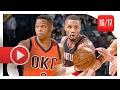 Russell Westbrook Vs Damian Lillard TOP PG Duel Highlights 2017 02 05 Thunder Vs Blazers SICK mp3