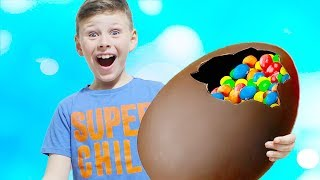 Kids Pretend Play with Eggs in garden Johny Johny Yes Papa song for kids video