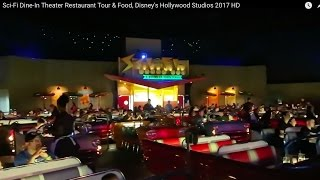 Sci-Fi Dine-In Theater Restaurant Tour & Food, Disney's Hollywood Studios  HD *A Must Eat!