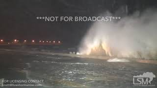 10-7-2017 Gulfport, Ms and Pascagoula, Ms Hurricane Nate extreme Winds huge waves and power flash