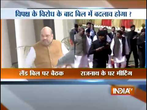 Land Acquisition Ordinance: BJP leaders meet at Rajnath Singh's residence
