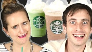 People Try Starbucks Frappuccinos For The First Time