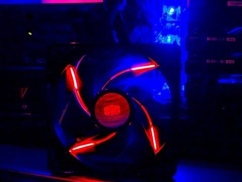 Cooler Master SickleFlow Red L.E.D case fan overview 120mm