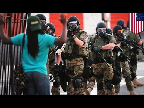 Police militarization in Ferguson Missouri: MRAPs, LRADs seen at Michael Brown shooting protests