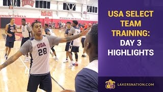 USA Team Training: Day 3, Lakers Highlights (Randle, Russell, Ingram)