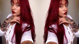 Gorgeous Burgundy full lace wig | Divaswigs.com Review part 1