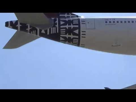 Fiji Airways Airbus A330-243 (DQ-FJV) Landing at Los Angeles Airport.