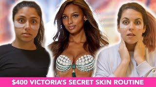 Trying The $400 Victoria's Secret Model Skincare Routine