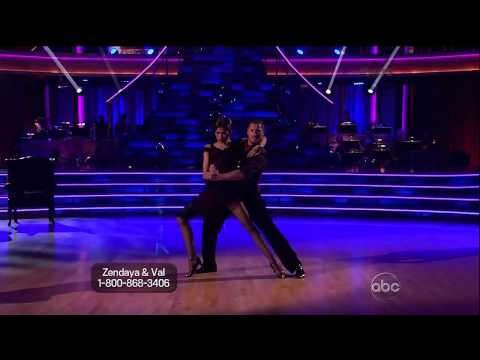 Zendaya and Val with Maksim and Anna-Argentine Tango