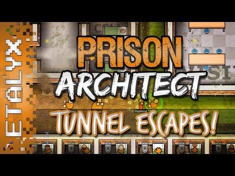 Prison Architect - Tunnel Escapes & Punishments!