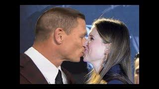 Stephanie Mcmahon & John Cena Hot Kiss - WWE John Cena kisses Stephanie Mcmahon in a Public Event