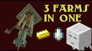 HUGE NEW! Minecraft Gold Farm / Ghast Tear Farm / Ghast Catcher - 3 IN 1 FARM!