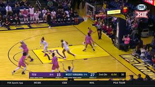 TCU vs West Virginia Women's Basketball Highlights