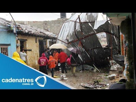 Tromba La culebra provoca severos daños en Chiapas / Tromba causes damage