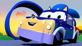 Pickle the PICK UP TRUCK is SONIC THE HEDGEHOG!  - Tom the Tow Truck's Paint Shop in Car City