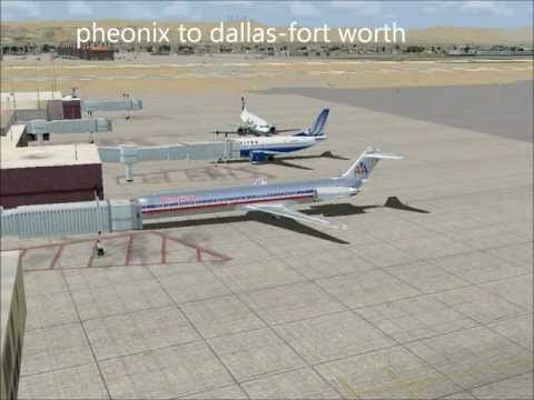fsx american airlines pheonix to dallas-fort worth