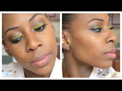 Spring Makeup Tutorial 2015! l Glowy Skin, Green Smokey Eyes, Lolita Lips
