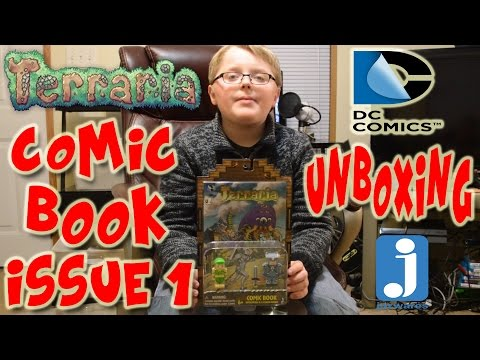 Terraria Comic Book Issue #1 Dryad And Platinum Armor Figure Unboxing + Review