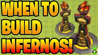 WHEN SHOULD YOU BUILD YOUR INFERNO TOWERS?! - Clash of Clans
