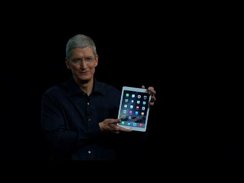 Watch Tim Cook debut the iPad Air 2