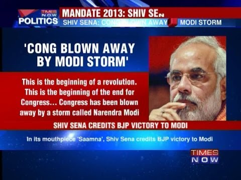 Shiv Sena credits BJP victory to Narendra Modi
