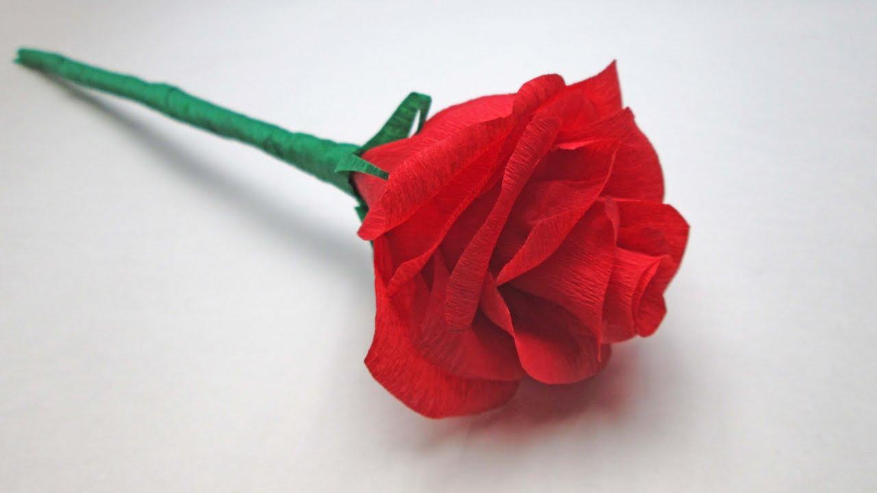 Роза из гофрированной бумаги конфет своими руками пошаговое фото