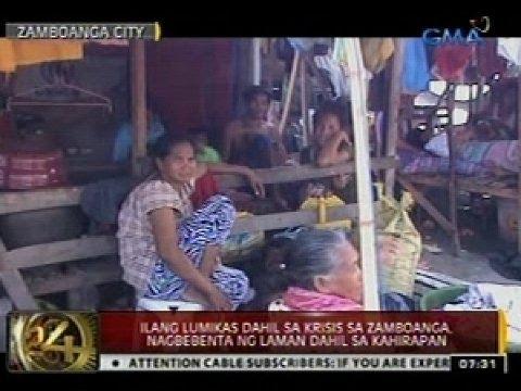 24 Oras: Ilang lumikas dahil sa krisis sa Zamboanga, nagbebenta ng laman dahil sa kahirapan