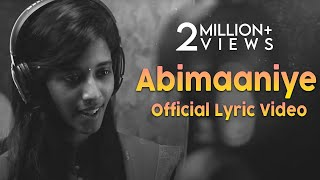 Abimaaniye - Official Lyric Video | En Aaloda Seruppa Kaanom | Ishaan Dev | Ondraga Entertainment