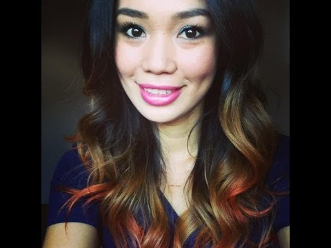 D.I.Y Ombre' Hair using Crepe Streamer