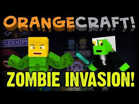 Annoying Orange Let's Play Minecraft - Halloween Hub (Ft. Zombie George Washington)