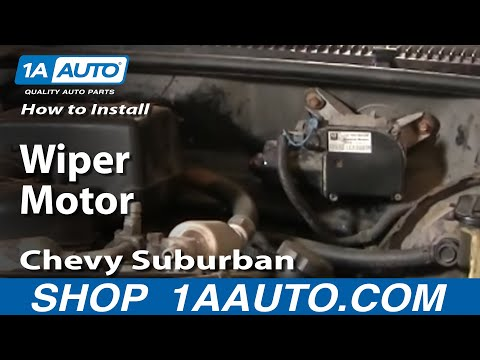 How To Install Replace Wiper Motor Chevy GMC Pickup Truck Suburban Tahoe 88-99 1