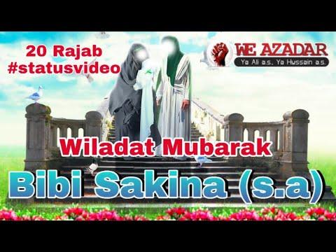 Bibi Sakina s.a Wiladat Status 2020 | Best Status Ever 2020 | Shahzadi Sakina s.a | Manqabat 2020
