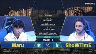 [GSL vs. the World 2018] Day3 Ro8 Match1 Maru vs ShoWTimE