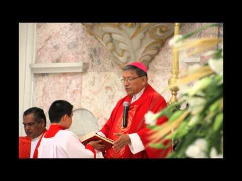 Despedida Sr  Obispo Don Ramón Calderón Batres