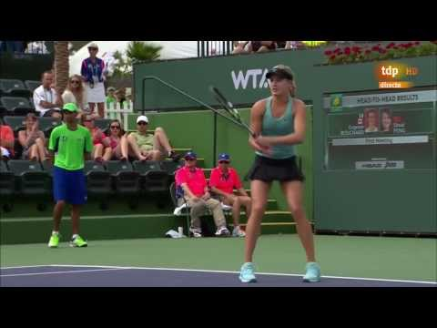 Bouchard, Pliskova, Giorgi some moments Indian Wells 2014