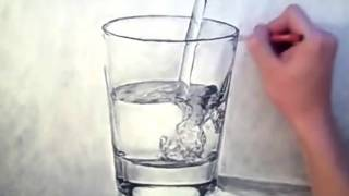 AMAZING WATER/GLASS drawing - look for beauty in the mundane - Theportraitart video