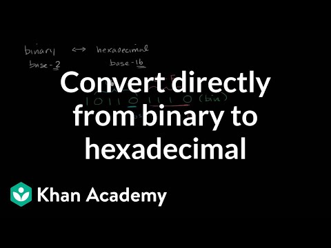 Converting directly from binary to hexadecimal
