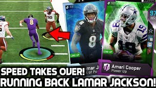 LAMAR JACKSON PLAYS RUNNING BACK! 97 AMARI COOPER! Madden 19 Ultimate Team