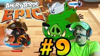 Lets Play Angry Birds EPIC Part 9: Death to Smudgee! (iOS Face Cam Commentary)