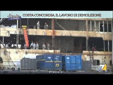 Costa Concordia: il lavoro di demolizione