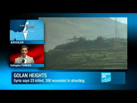 Golan Heights: Israeli troops fire on Palestinian protesters