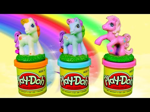 Play Doh My Little Pony Stamps Frozen Barbie Doll Mlp Blind Bags Playdough Videos video
