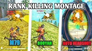 RANK KILLING MONTAGE | BEST PRO HIGHLIGHTS | POCOPHONE F1 GAMEPLAY | GARENA FREE FIRE BATTLEGROUND