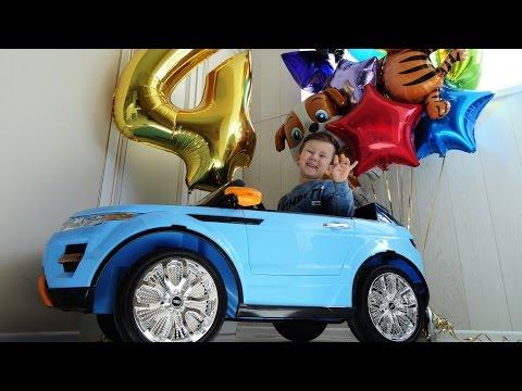 День Рождения Сене 4 года Новый Электромобиль Влог Сюрпризы и Подарки Парк Развлечений Хэппи Мил