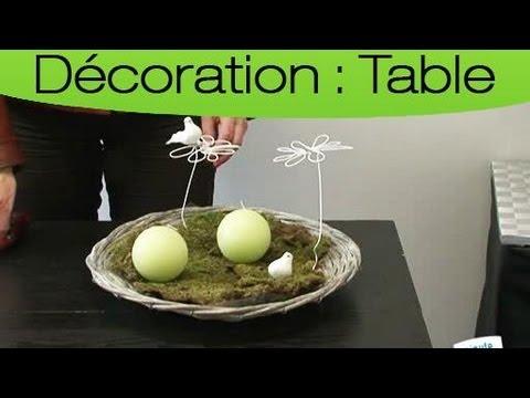comment faire un centre de table avec une corbeille en osier