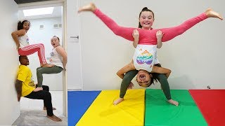 GYMNASTICS CHALLENGE!! Acrobatics & Tricks