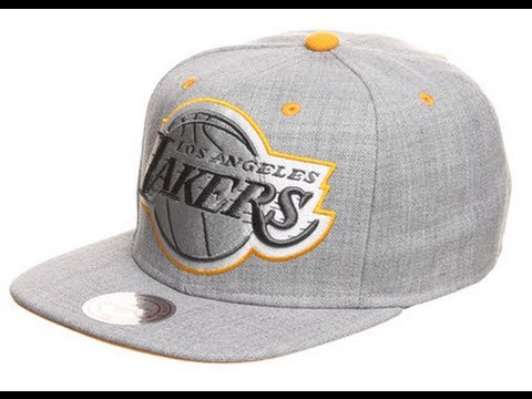 Mitchell & Ness Dark Grey Road XL Logo Snapback Los Angeles Lakers