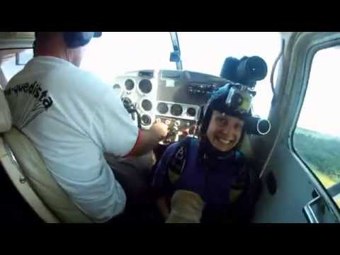 Salto Duplo Carlos - Inst. Rogerio Nacir - Tribo do Céu - Paraquedismo - Skydive Araraquara
