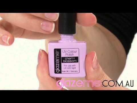GlazeMe.com.au DIY French manicure application video