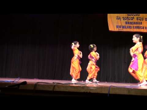 Children's Day 2009 At New England Kannada Koota - A Folk Dance By 5 To 8 Year Old Kids video